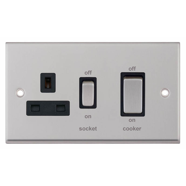 45 Amp Cooker Unit With 13 Amp Switched Socket  U2013 Selectric Uk